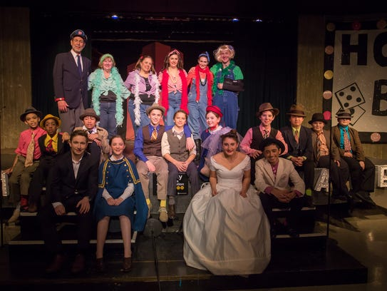 The full cast of Guys and Dolls JR. presented by Princeton