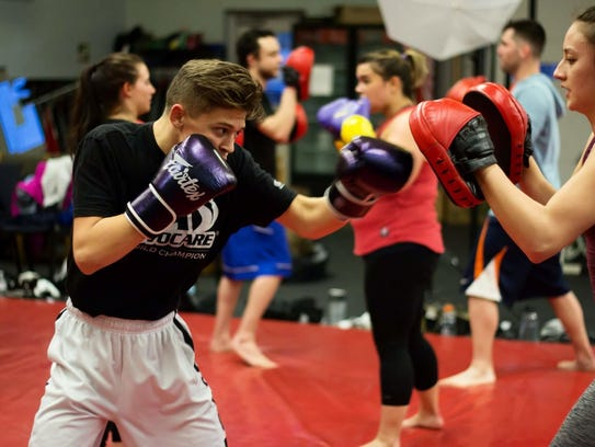 Kickboxing is one of the many classes offered at Impact