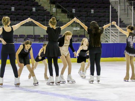 Members of the Greater Pensacola Figure Skating Club