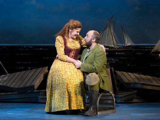 "Lindsay Mendez and Alexander Gemignani star in ""Rodgers & Hammerstein's Carousel"" on Broadway."