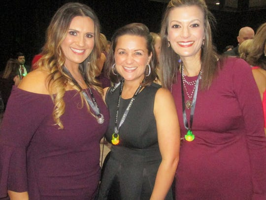 Amy Courville, Angelle Adams and Jeanne-Marie Savoy