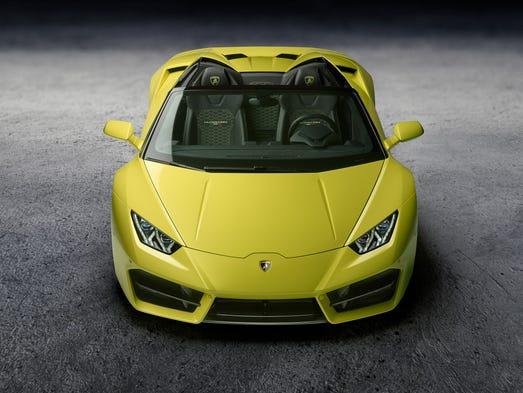 The Lamborghini Huracan Spyder.