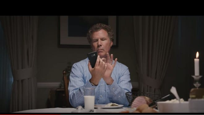 Will Ferrell will make you laugh in three videos about smart phones at the dinner table.