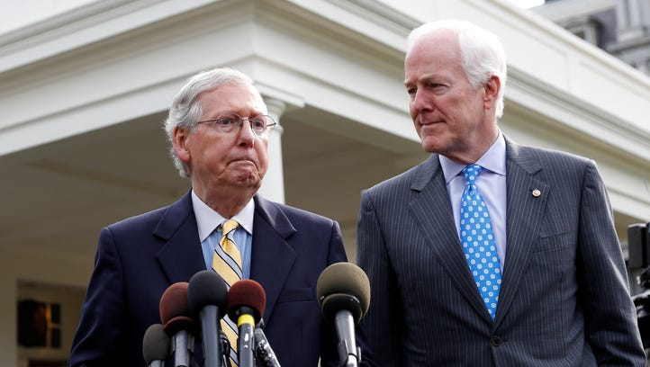 Senate Majority Leader Mitch McConnell and Majority