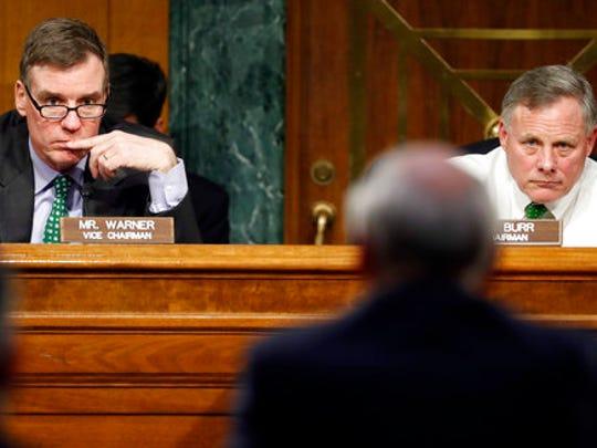FILE - In this Feb. 28, 2017 file photo, Senate Intelligence