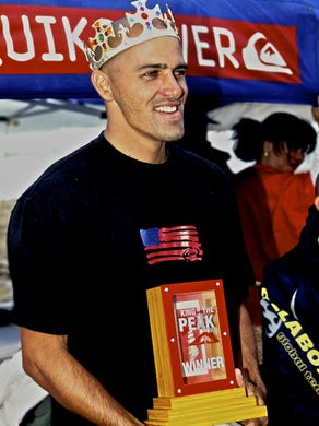 """Kelly Slater won the first """"King of the Peak"""" title"""