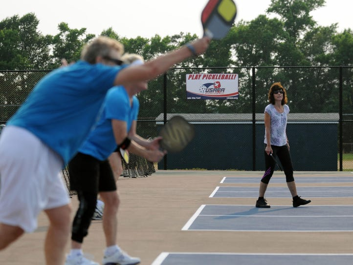 Pickleball players lineup to play on Delaware's only