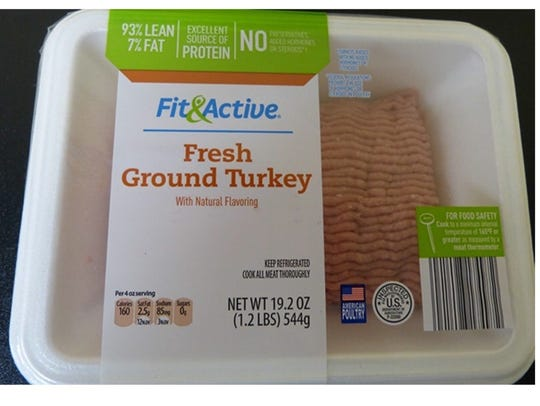 Certain packages of Fit & Active ground turkey, sold