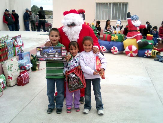 Santa Claus paid a visit to the villagers of San Pedro