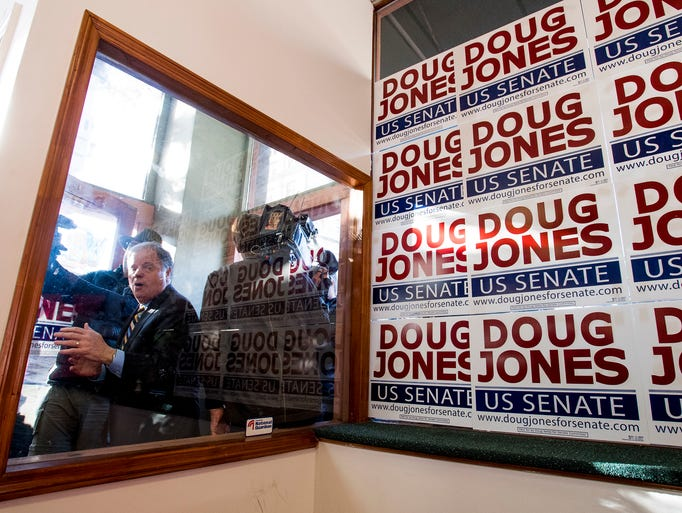 Democratic U.S. Senate candidate Doug Jones makes his