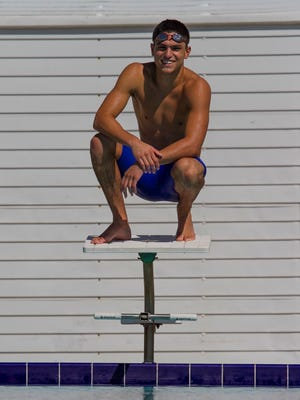 Swimmer Jonah Martinez, a silver-medalist in the Class 2A 50-meter freestyle last season for Cape Coral High School, looks to add to his accomplishments in his senior season. Martinez has Asperger's Syndrome, a form of autism. He also has ADHD, but uses swimming as a way to focus.