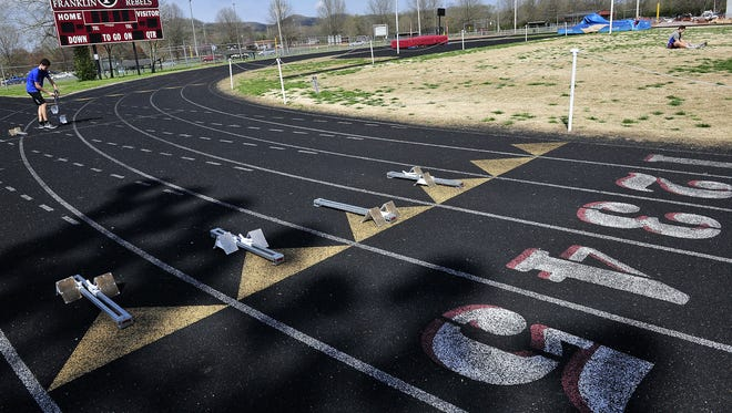 A new Franklin High School campus plan would expand the school's track to eight lanes.