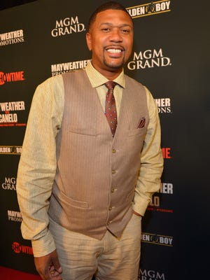 Former NBA player and current ESPN broadcaster Jalen Rose at the MGM Grand Garden Arena to watch the Floyd Mayweather Jr. vs. Canelo Alvarez boxing match on September 14, 2013 in Las Vegas, Nevada.