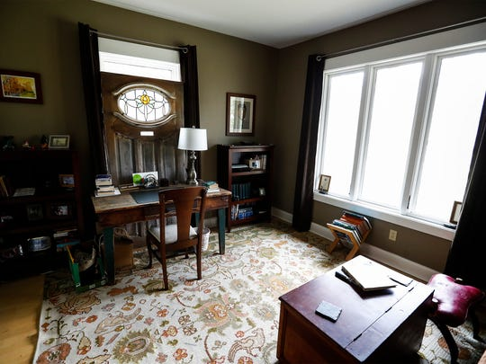 The third bedroom of this 87-year-old bungalow that was renovated 13-year-old age, doubles as a office space.