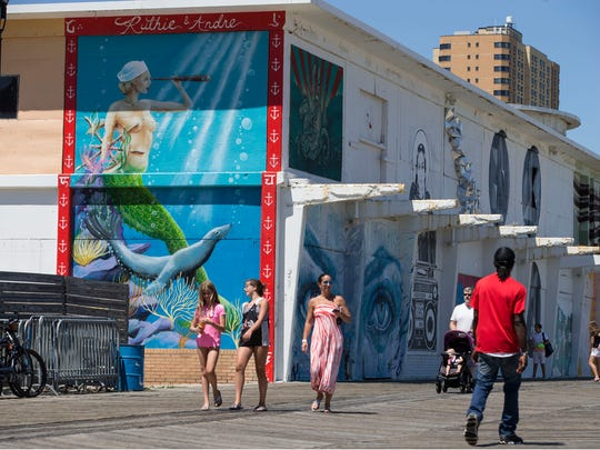 A vast amount of murals can be seen along the Asbury