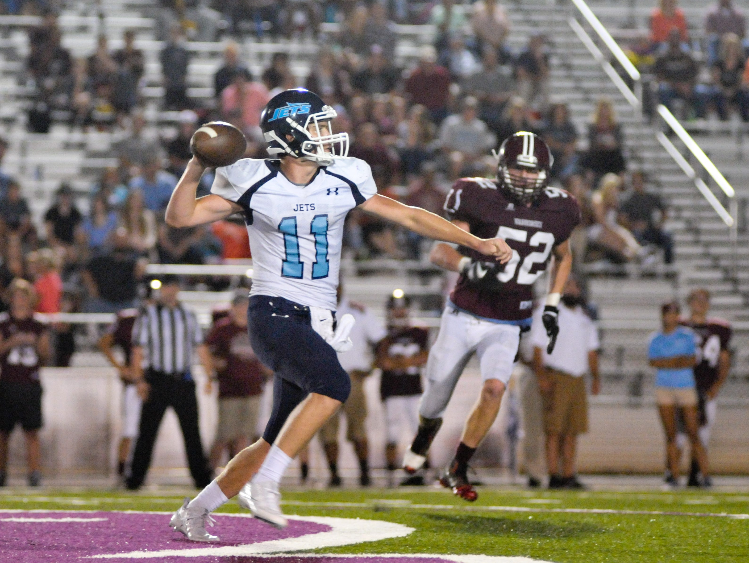 Avery Holbrook (11) and Enka are home for Friday's game against Pisgah.