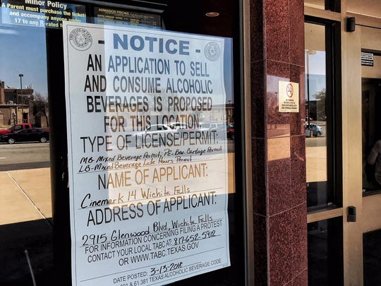 This notice was posted Tuesday at the Cinemark 14 Wichita