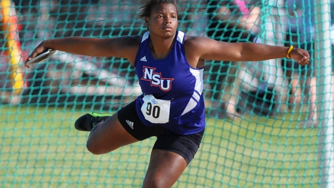 Former NSU star Trecey Rew Hoover was 22nd at the U.S. Olympic Trials in the discus.