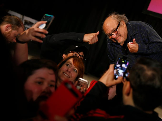 Actor and Asbury Park native Danny DeVito mugs with