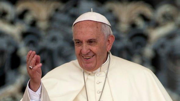 Pope Francis , May 20, 2015. (AP Photo/Andrew Medichini)
