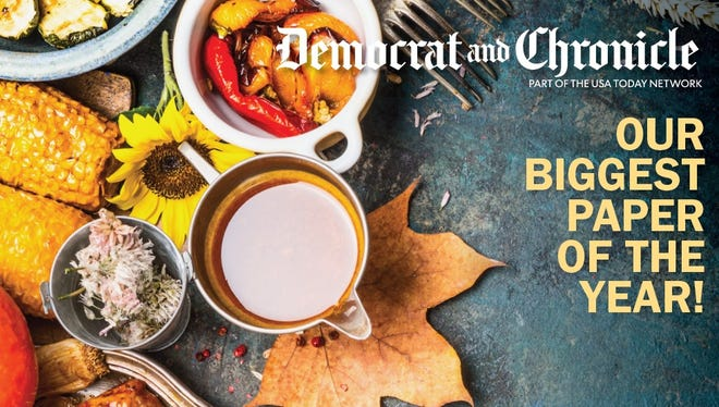Part of the cover of the Democrat and Chronicle's planned Thanksgiving Day edition.