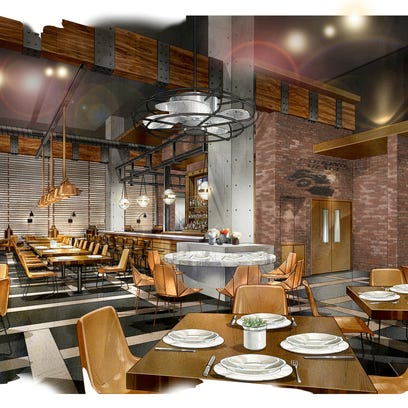 Provided rendering of a restaurant at the Omni Louisville