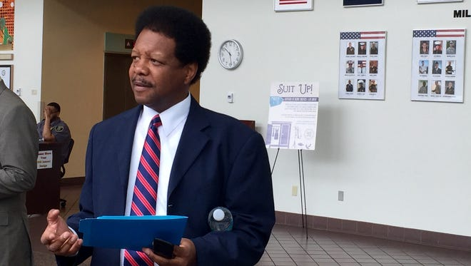 At the Department of Education building on Monday, Leon County Commissioner calls on the  state to improve failing local schools.