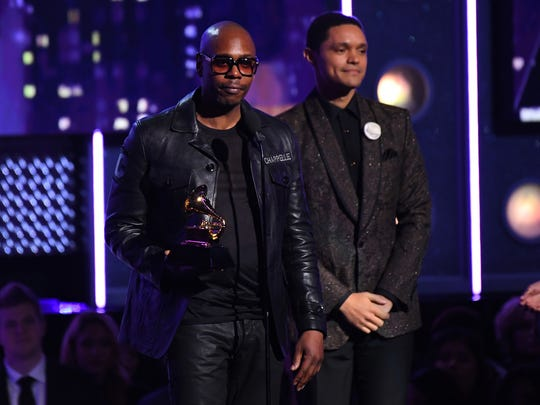 Dave Chapelle speaks after picking up the best comedy