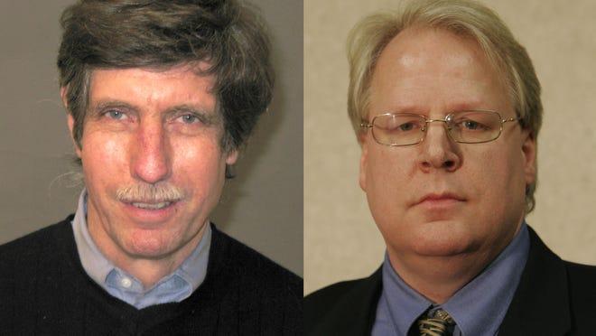 Pomona Trustee Ian Banks, left, and Mayor Brett Yagel.