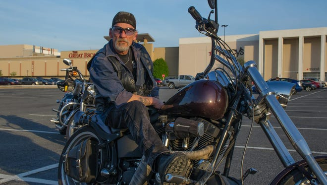 "Nick ""Morgan"" Adams started Morgan's House of Twins motorcycle repair shop about five years ago."