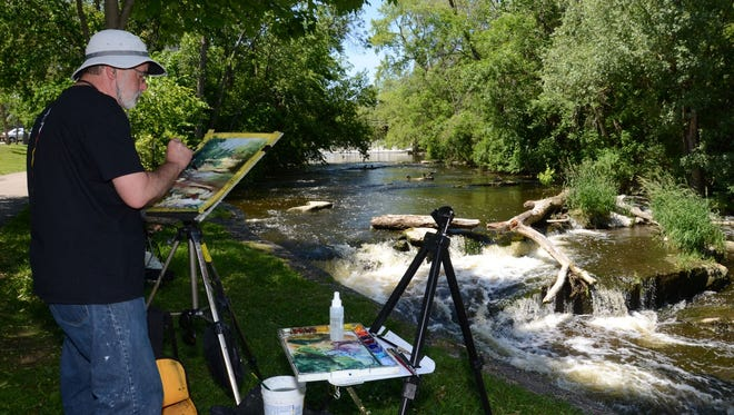 Steve Puttrich, who will serve as one of the judges at this year's Paint Cedarburg, has been a previous participant in the plein air event.