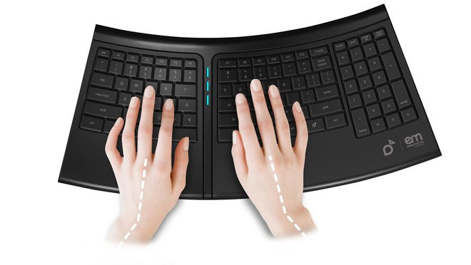 The automated ErgoMotion Keyboard studies your typing frequency and makes subtle adjustments so that your hands and wrists are never in a fixed position while you work.