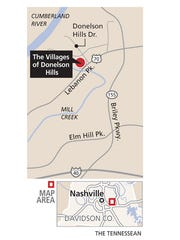 Location of The Villages of Donelson Hills development.