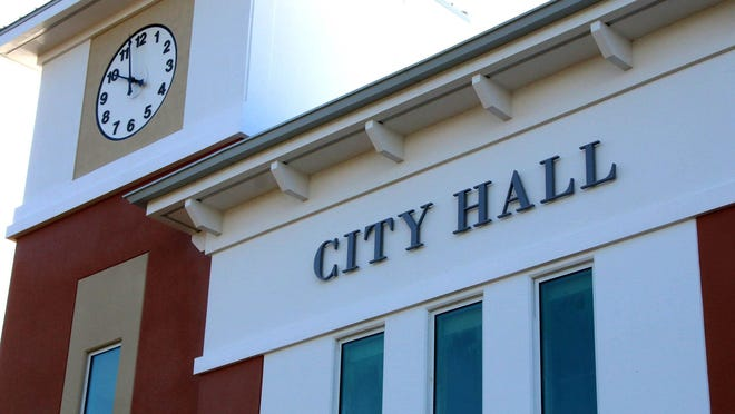 The Palm Coast City Hall building at Town Center.