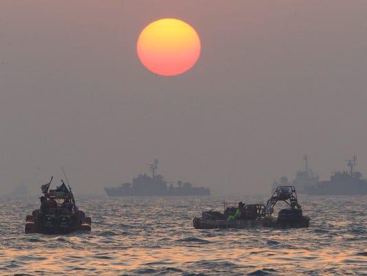 South Korea ferry sunk