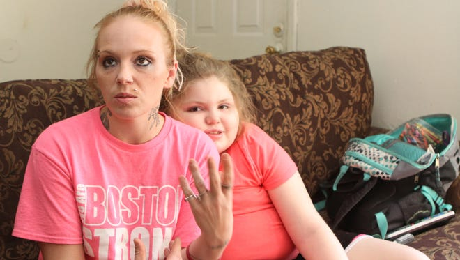 Aysia Goddard, left, and her 11-year old daughter, Hailey Willette.