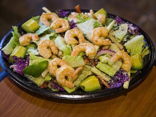 Baja Fresh, chile lime shrimp primo salad, Kahala test kitchen