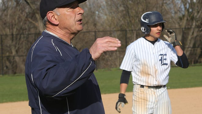 Eastchester coach Dom Cecere has a career record of 705-373 in his 50 years leading the varsity baseball program.