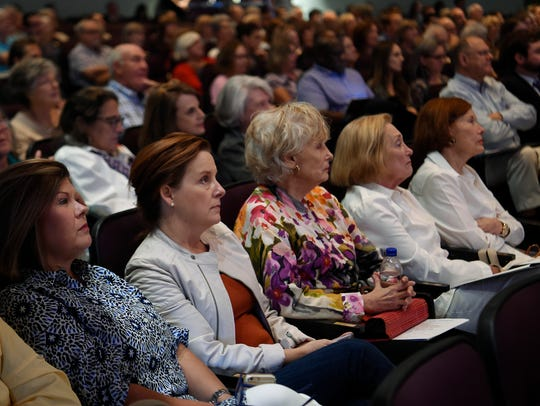 Guests listen during a Civility Tennessee discussion