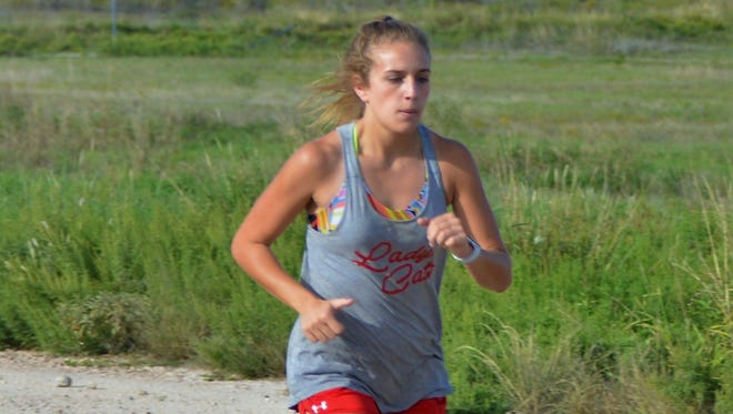 Ballinger's Sydney Bowman won the Region I-3A girls cross country title on Oct. 23, 2017, in Lubbock. She now heads to the UIL state meet Saturday, Nov. 4 in Round Rock.