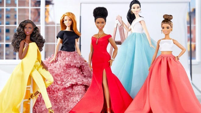 Christian Siriano creates Barbie replicas of his red carpet looks. (Mattel)