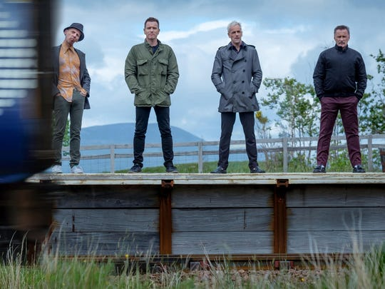 "Ewan McGregor, Ewen Bremner, Jonny Lee Miller and Robert Carlyle in ""T2: Trainspotting."""