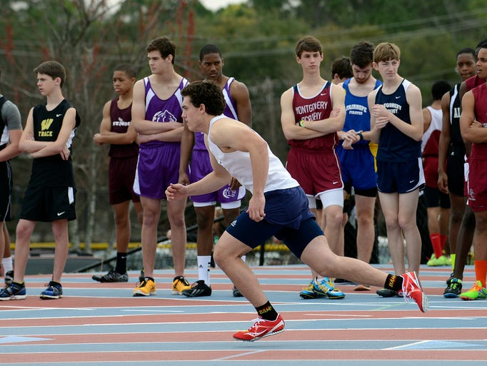 Dozens of schools compete in a track meet at Montgomery Academy on Saturday, March 15, 2014. (Montgomery Advertiser, Amanda Sowards)