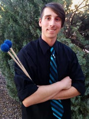 Tanner Dossey, a sophomore marketing major and music minor, will perform as a featured xylophone soloist with the New Horizons Symphony during a concert Sunday, May 15, in the Atkinson Recital Hall.