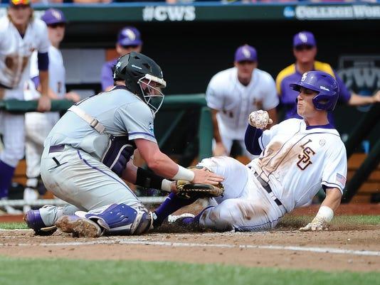 NCAA Baseball: College World Series-LSU vs TCU