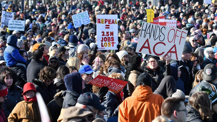 At Macomb Community College, thousands came together to oppose the repeal of the Affordable Care Act.