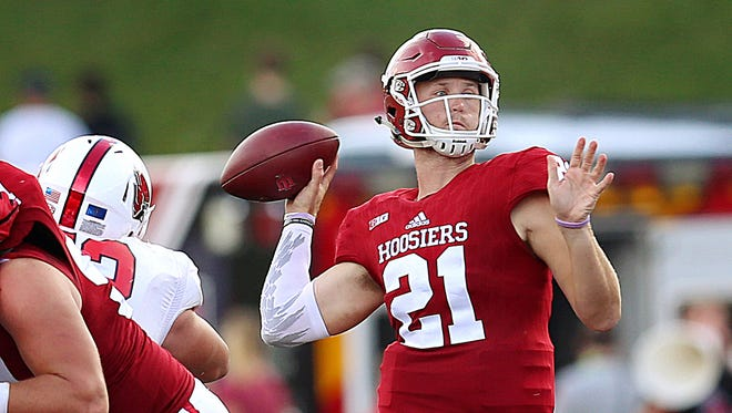 IU quarterback Richard Lagow finished second in the Big Ten in passing yards in 2016.