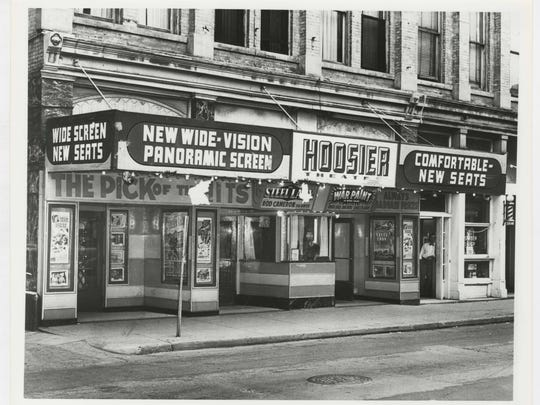 Civic Theatre's front when it was known as Hoosier