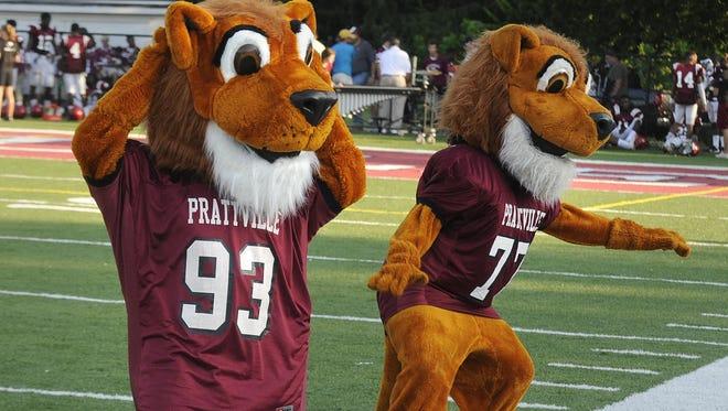Prattville Lions mascots dance