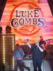 Luke Combs performs on Saturday, May 12, 2018, at Wells Fargo Arena.
